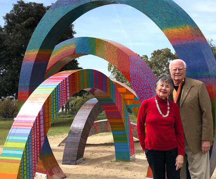 Arts-passionate community leaders help Civic Center sculpture garden continue to thrive